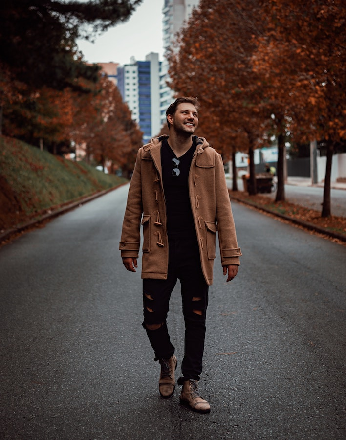 leaves layering mens style
