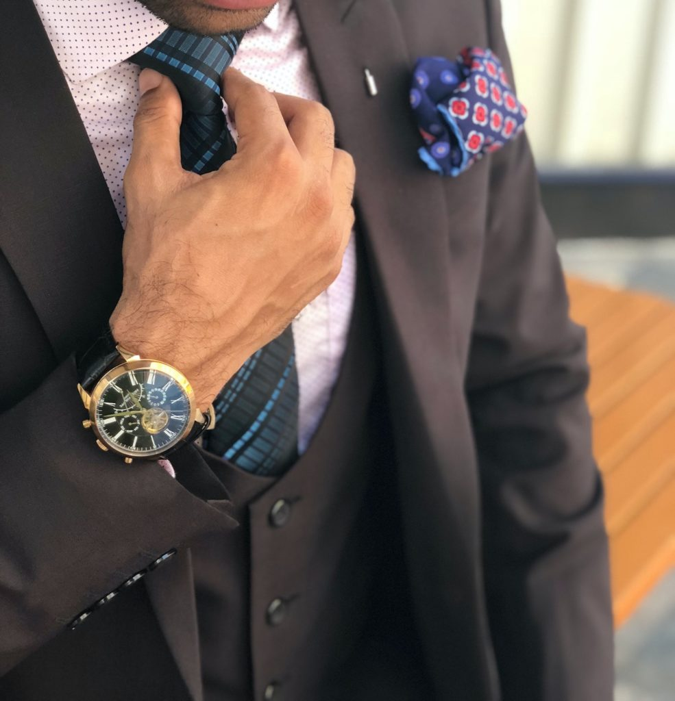 accessories for a suit