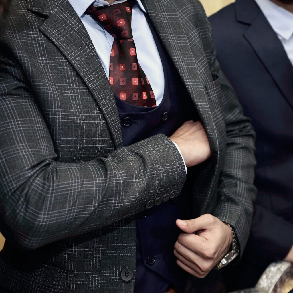 mens suit layering